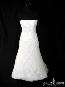 Pronuptia - Dolce Vita (drapé tulle fluide dentelle boule bustier)