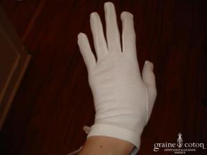 Ganteb's - Gants courts en satin mat ivoire
