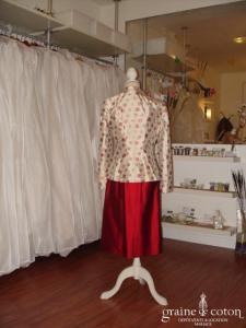 Dona Louisa - Veste à fleurs en soie (non stocké en boutique, essayage sur demande)