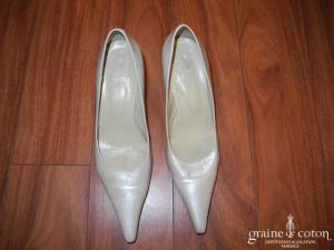Perlato - Escarpins (chaussures) en cuir ivoire