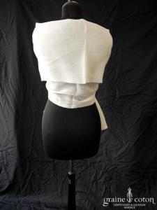 Création - Étole doublée en organza de soie ivoire