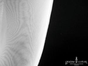 Boléro en organza blanc à manches courtes