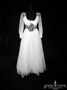 Lolita Lempicka - Ammie (vintage dentelle tulle fluide manches bretelles dos boutonné)