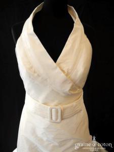 Rembo Styling - Liane (taffetas drapé tour de cou taille basse bretelles)
