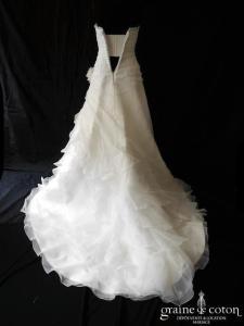 La Sposa (Pronovias ) - Figura (drapé gaze organza coeur dentelle dos boutonné taille basse)