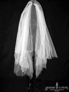 Catherine Varnier - Voile mi-long en tulle ivoire