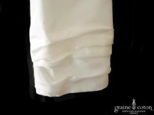 Bianco Evento - Boléro en taffetas ivoire clair, manches 3/4