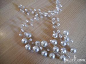 Création - Collier (tour de cou) en perles ivoire nacré