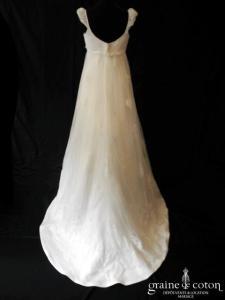 Pronuptia - Margot de Bohème (empire tulle plumetis dentelle manches bretelles dos boutonné)
