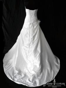 Pronuptia - Mlle Thilda (taffetas drapé laçage)