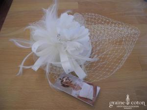 Bianco Evento - Bibi / coiffe / voilette / chapeau fleur en tissu sisal et strass (92)