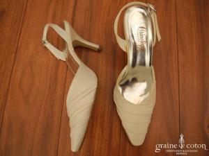 Crinoligne - Escarpins (chaussures) en satin champagne