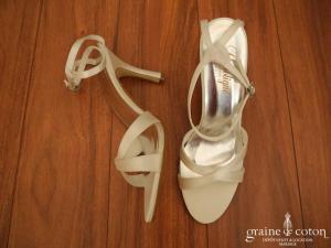 Crinoligne - Sandales (chaussures) Jadis en satin ivoire
