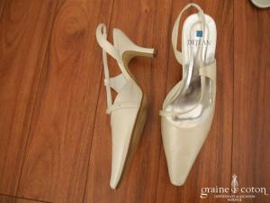 Dejean - Escarpins (chaussures) ivoire bouts pointus