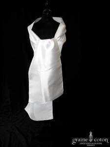 Pronuptia - Étole en mikado blanc