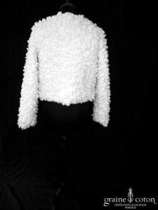 Avant Première pour Galeries Lafayette - Manteau moutonné ivoire (manches fourrure)