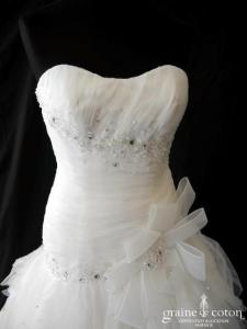 Hervé Mariage - Duchesse (taille basse drapée  mouchoirs tulle bustier)