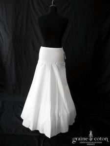 Bianco Evento - Jupon 2 cerceaux ivoire circonférence 190 cm (H9-190)