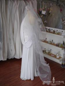 Voile roulotté blanc - 3 mètres