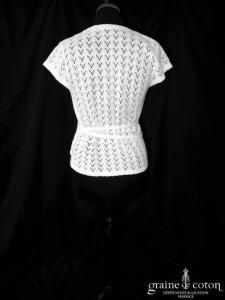 Cache coeur boléro tricoté ivoire