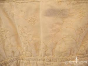 Alphabet - Robe petite fille d'honneur en coton blanc
