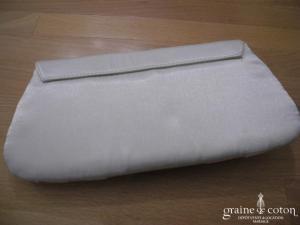 Claire's - Pochette en satin ivoire