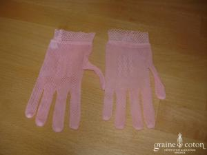 Gants fillette extensibles roses