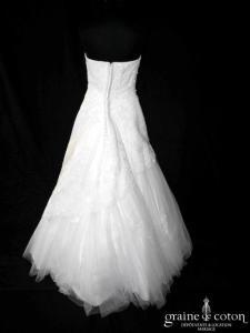 Eglantine Créations - Elyane (blanche coeur dentelle tulle dos boutonné bustier)