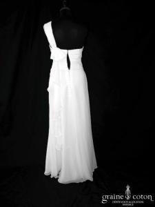 Alexis Mariage - Viva (mousseline fluide drapé bretelles dos boutonné bustier)