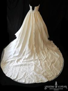 Pronovias - Casey (mikado soie coeur drapé taille-haute bustier)