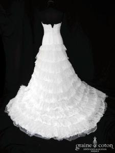 Création - Robe bohème taille basse ivoire clair (empire dentelle bustier)