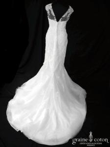 Pronovias - Lansi (sirène tulle dentelle coeur bretelles dos boutonné dos-nu manches)