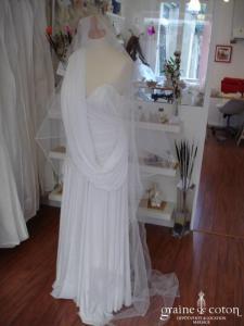 Voile blanc perlé - 2*3 mètres