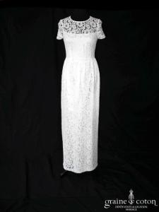 Tara Jarmon - Robe longue en dentelle (manches bretelles droite)