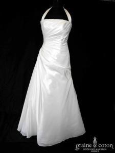 Lili la mariée - Soleil (drapé taffetas tour de cou dos boutonné bretelles tour de cou bustier taille basse)