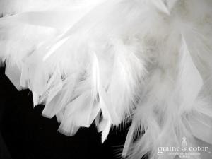Lambert Création - Boa en plumes ivoire