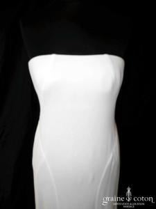 Ralph Lauren - Création sirène en crêpe de soie ivoire (fluide bustier)