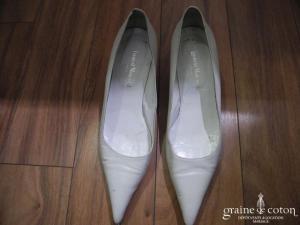 Laurent Mercadal - Escarpins (chaussures) en cuir blanc