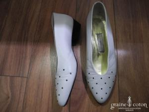 Samantha - Escarpins (chaussures) en cuir ivoire