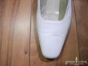 Lola - Escarpins (chaussures) en cuir blanc