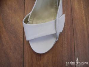 Minelli - Escarpins (chaussures) ouverts en cuir blanc