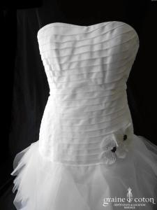 Hervé Mariage -  Intrépide (laçage plissé mouchoirs tulle taille basse bustier)