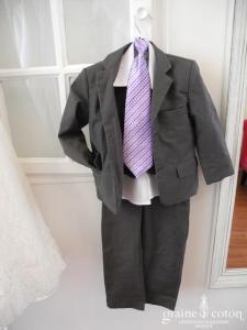 Costume 5 pièces petit garçon gris