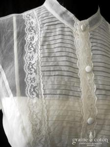 Pronuptia - Couture Allure (manches bretelles bustier organza vintage)