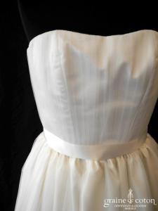 Aëlle - Caliste (bustier coeur drapé plissé tulle taille haute)