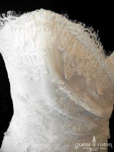 Cymbeline - Idole (bustier coeur drapé dentelle fluide sirène taille basse bohème dos boutonné)