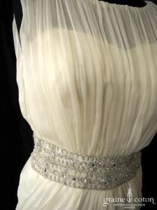Urszula Wolny - Création en tulle plissé ivoire (bretelles fluide coeur)