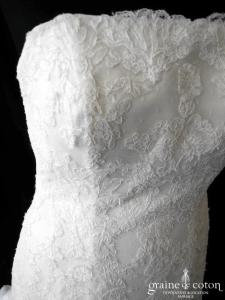 La Sposa (Pronovias) - Ineca (buster dentelle sirène dos boutonné)