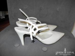 Escarpins (chaussures) en cuir ivoire