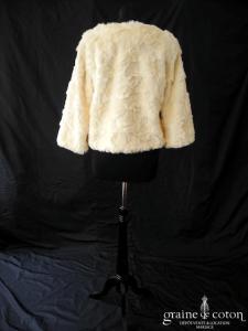 Zeva - Manteau / boléro en fausse fourrure ivoire